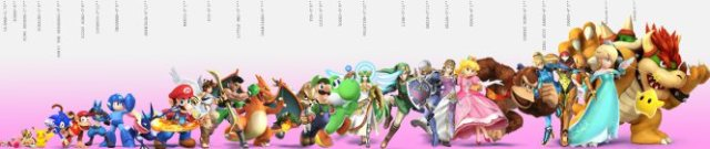 Nintendo Character Height Chart